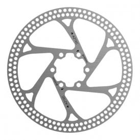 Stainless steel fixed disc rotor with circular cut outs