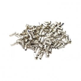 2 X 12 mm Brass Nipples Silver (Box Of 100)