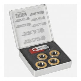 Set of 4 SINC ceramic bearings for RC rim brake wheels and 240 non-disc hubs.