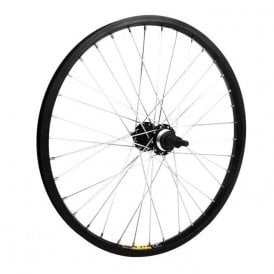 20 x 1.75 alloy for multi freewheel 135mm black rear wheel