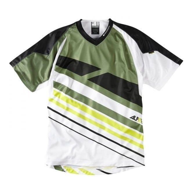 Madison Clearance Alpine men's short sleeve jersey, black / green small