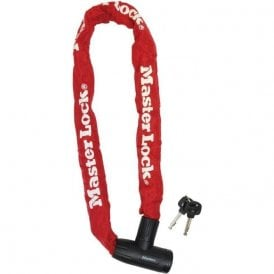 Street Flexium 900mm Integrated Key Chain Lock Colours Red