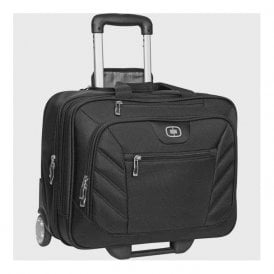 Roller wheeled travel bag, black