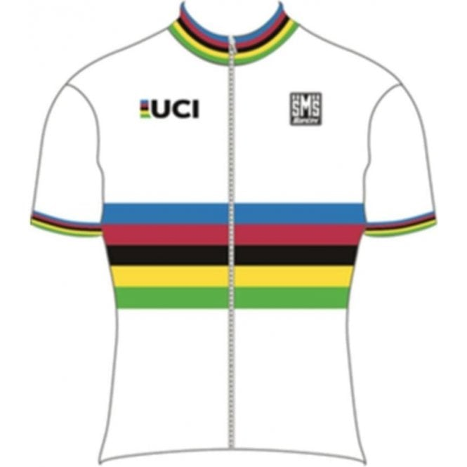 6d6a8007 Re94275Wc - Uci World Road Champion, Short Sleeve Rainbow Jersey, 75cm Zip