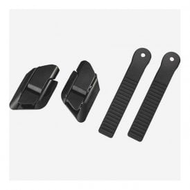 Reverse buckle and strap set, black