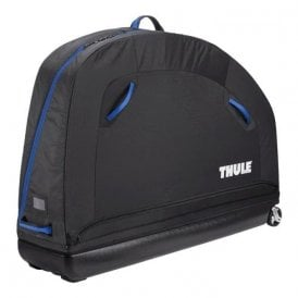 RoundTrip Pro semi-rigid bike case with assembly stand