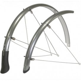 "50mm Fixed Mudguard Fits 24"" Tyre Size Grey"